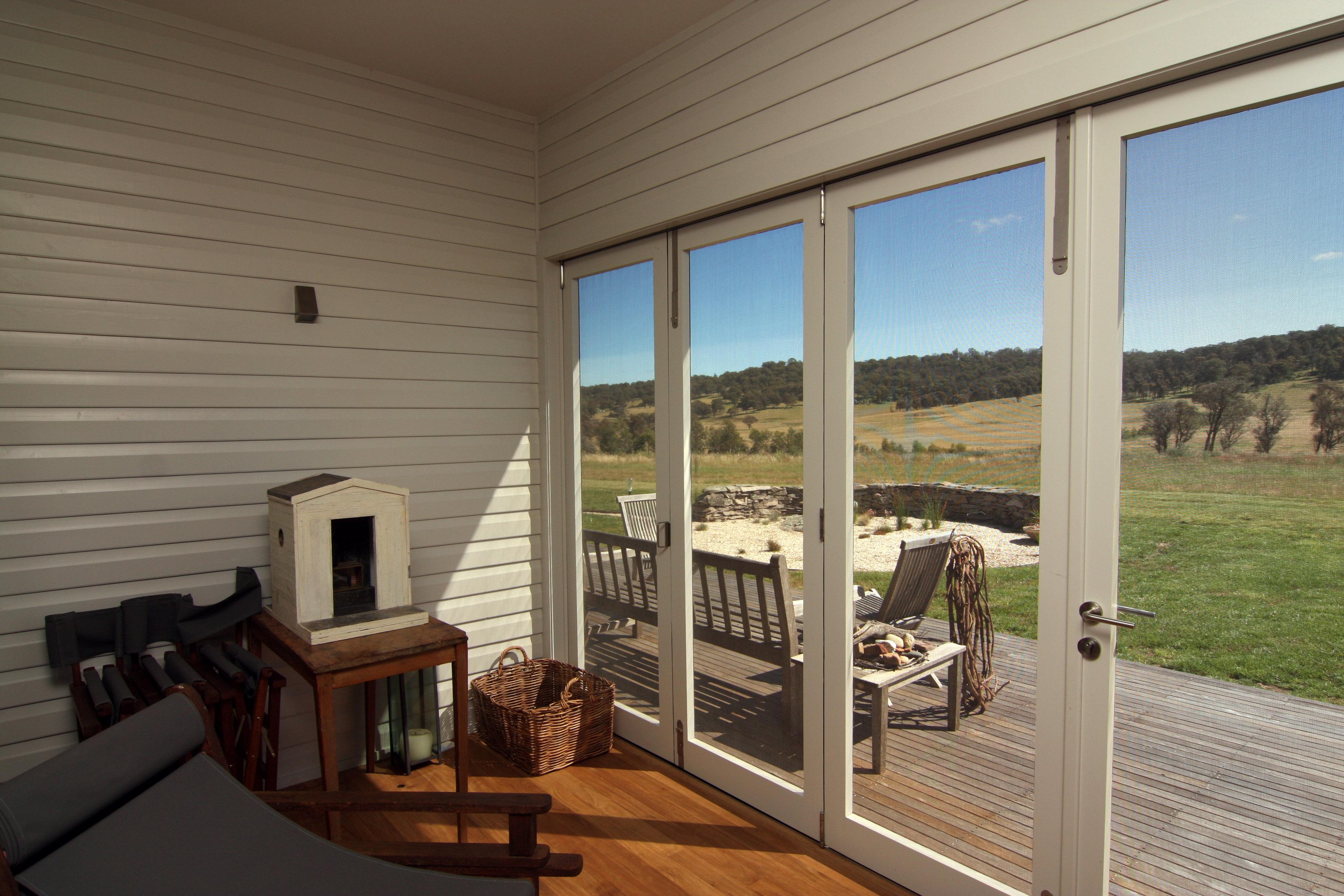 Bifold Screen Doors Interior View