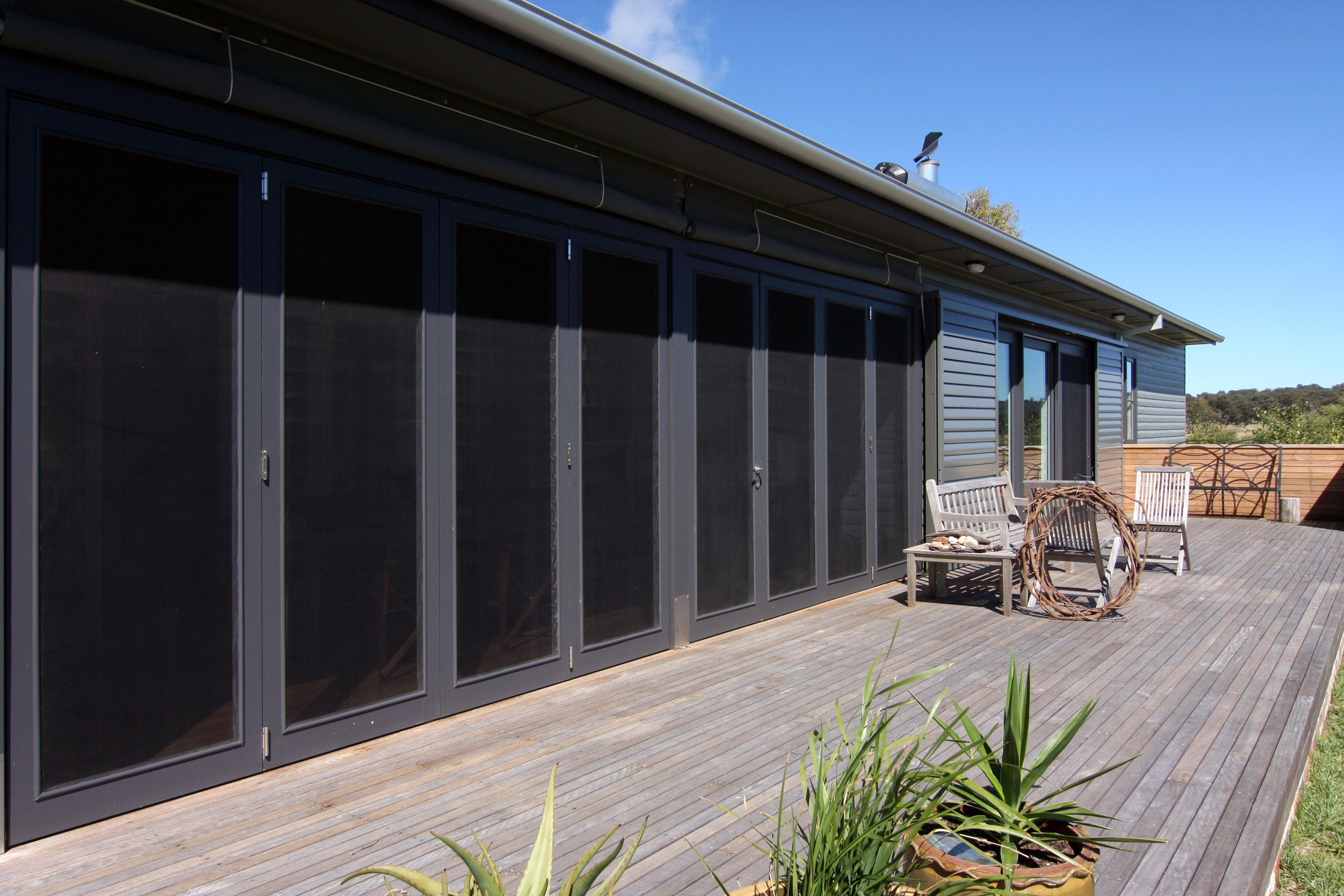 Bifold Screen Doors Exterior View
