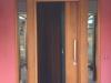 Vertical Plank Door with Sidelights and Brio Retractable Screen