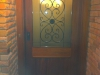 Entrance Door with Wrought Iron Insert