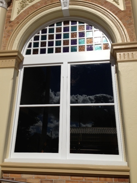 Inverell Town Hall - Coloured Arch Highlights and Double Hung Windows