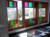 Casement/Fixed Sash/Casement Window with Coloured Lites - Karsten Kitchen